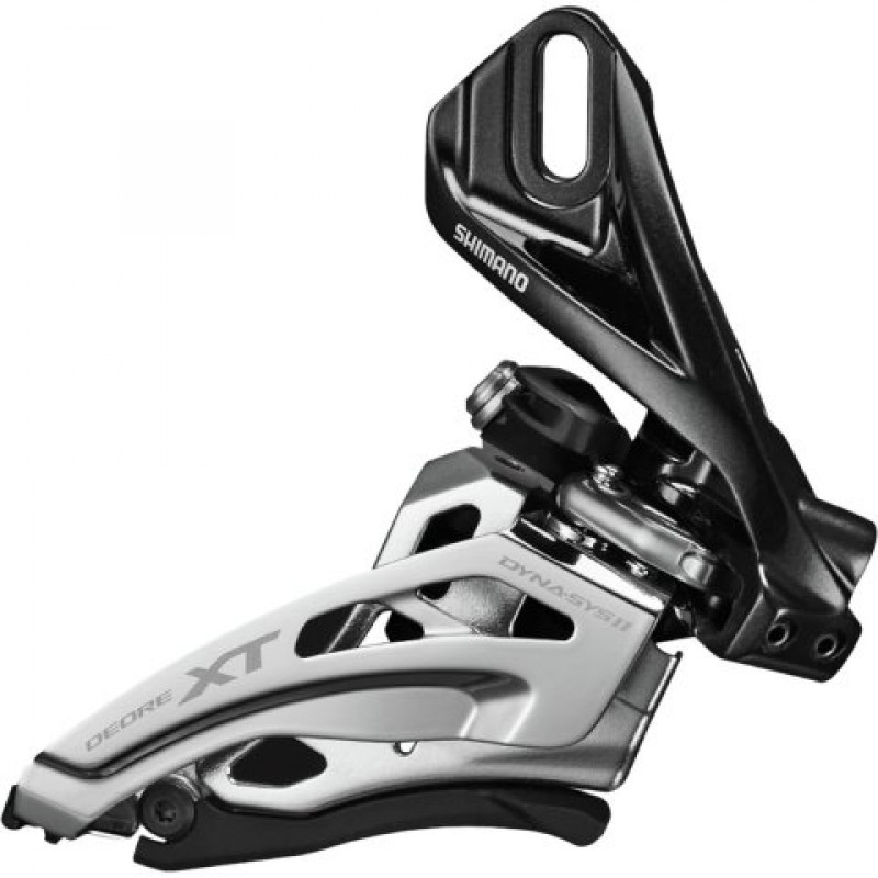 Переключатель передний SHIMANO XT M8020-D, direct mount, side-swing, 2X11, верхняя тяга, IFDM8020D6
