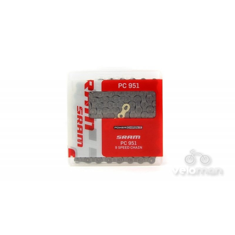 Цепь SRAM PC-951 PowerLink Gold 9 скоростей, 86.2706.114.105