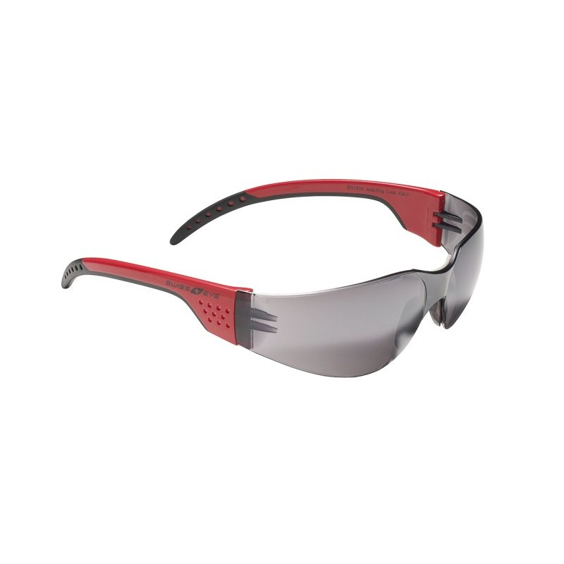Очки SWISSEYE Outbreak Luzzone спортивные, оправа красный/чёрный, линзы дымчатые FM, 14059