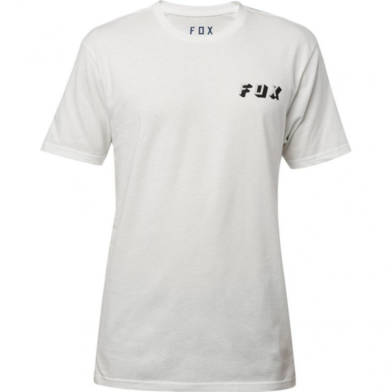 Велофутболка Fox Double Uppers SS Premium Tee Chalk 2018