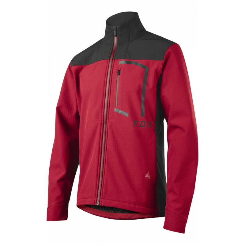 Велокуртка Fox Attack Fire Softshell Jacket Dark Red