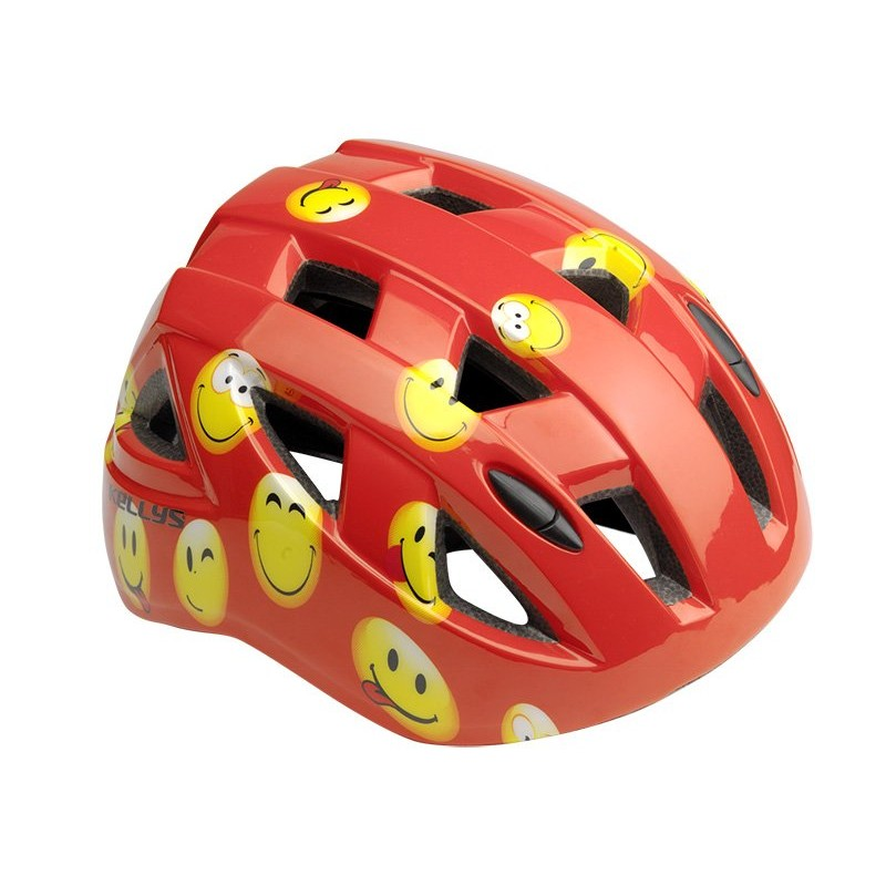 KELLYS Шлем детский SMARTY красный смайлик S (51-54сm)