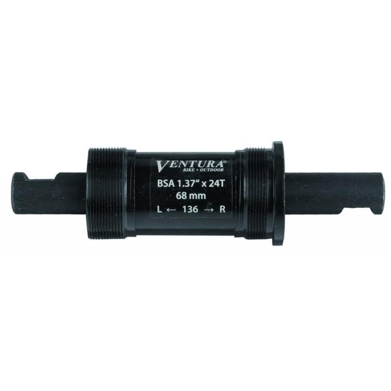 Каретка-картридж VENTURA, стальные чашки, 136/68мм, под клинья, черная, 5-359940