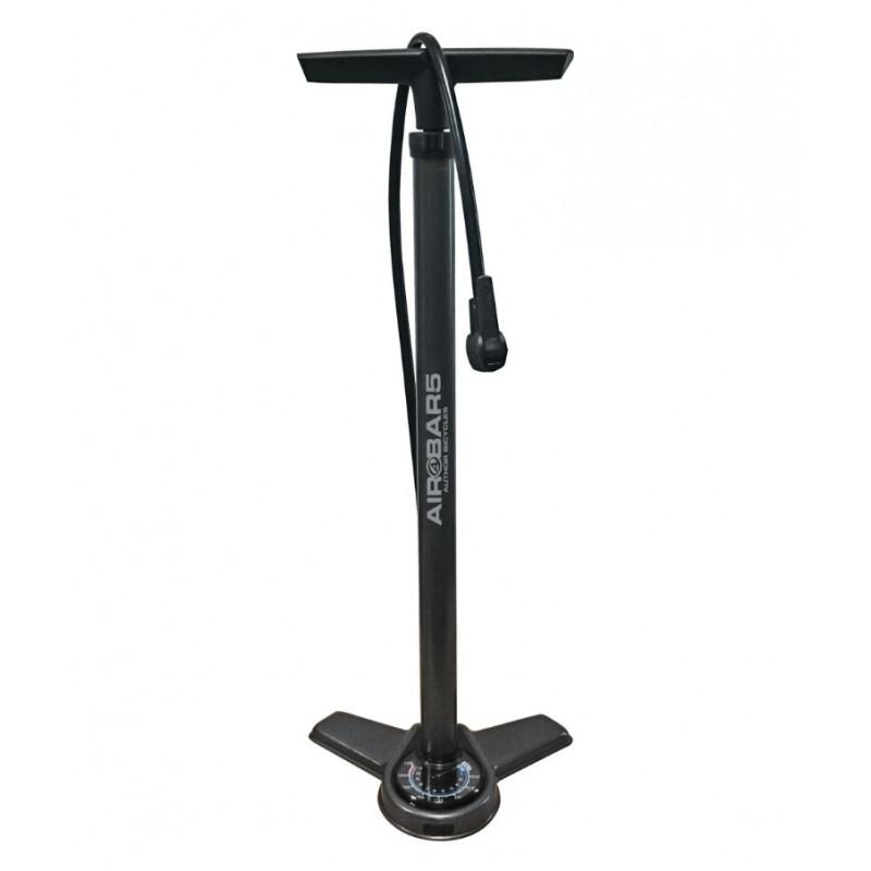 Велонасос AUTHOR AAP Air Bar5 напольный, сталь, с манометром, 160PSI, черный, 8-18151045