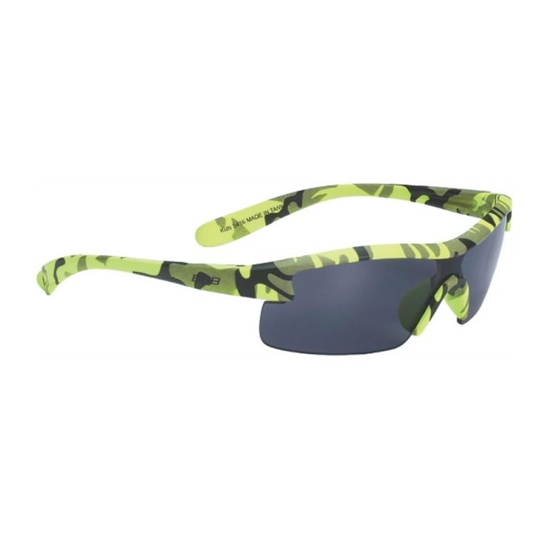 Очки BBB Kids PC, детские, дымные линзы, мешочек, неоново-желтые, BSG-54