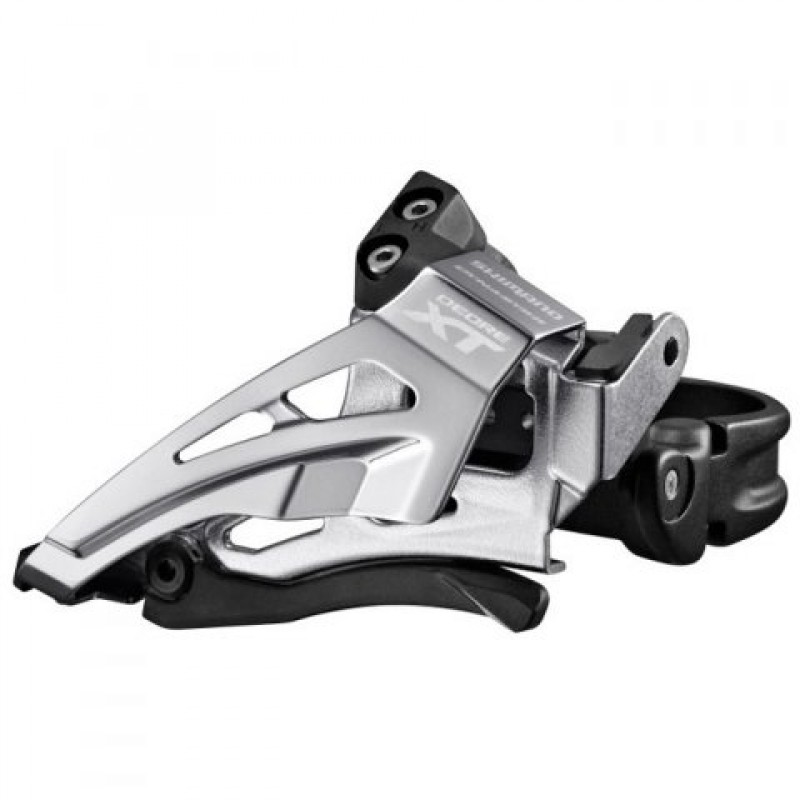 Переключатель передний Shimano XT  M8025-L, нижняя тяга, для 2x11, нижний хомут, IFDM8025LX6