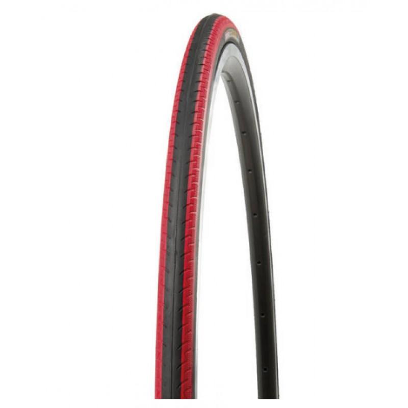 Велопокрышка KENDA K196 KONTENDER, 700х23С (23-622), 60 TPI, клинчер, LR3, слик, черно-красный, 5-522841