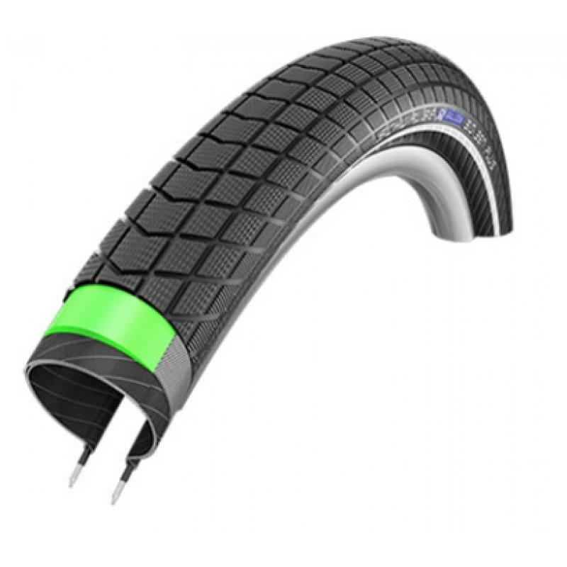 Велопокрышка Schwalbe BIG BEN PLUS 20x2,15(55-406), GreenGuard, Endurance, Black-Reflex, 11101122