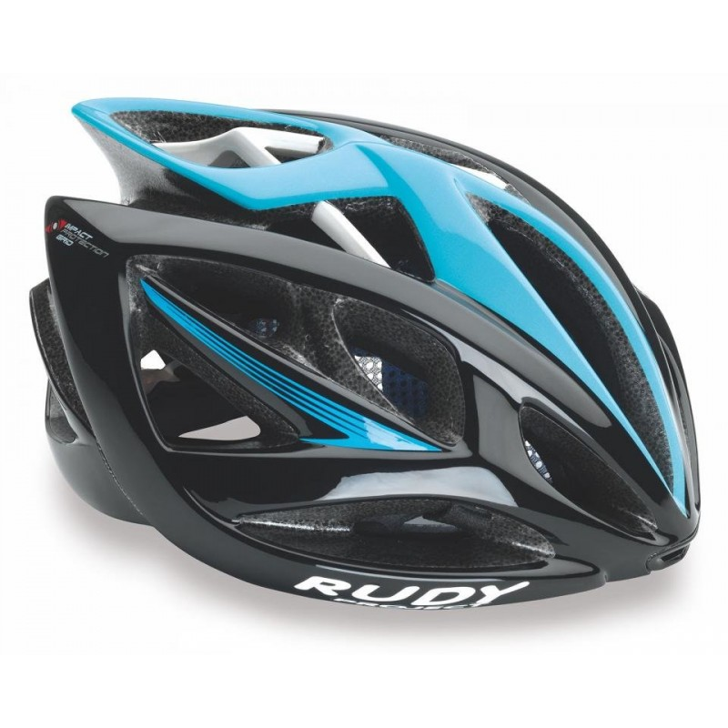 Велошлем Rudy Project AIRSTORM BLACK-BLUE SHINY (Размер: S-M (54-58 см))